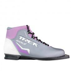 Ботинки лыжные TREK Soul ИК р.37 серый/лого/сиреневый