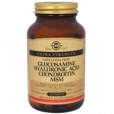 SOLGAR, Глюкозамин гиалуроновая кислота хондроитин MSM, 60 таб