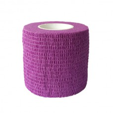 Тейп без липкого слоя 5см х 450 см фиолетовый