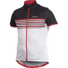 Велорубашка CRAFT PB Stripe Jersey black/red/white 1901281/9900/S